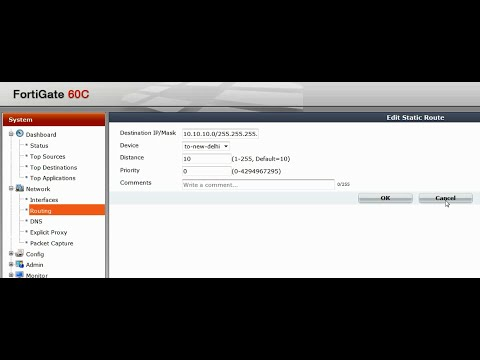 Fortigate Site to Site VPN Configuration Overview - 80c with Wizard & 60c Manual Config