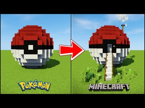 Transforming a Minecraft Pokeball into a House