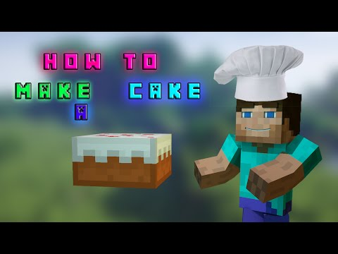 How to make a cake - Minecraft