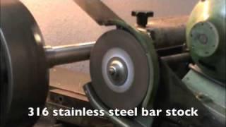Homemade surface grinder set up for Lathe Machine