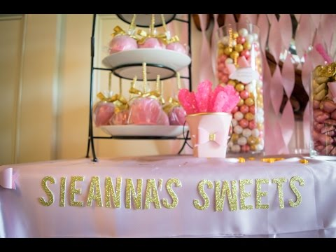Pink and Gold Candy Buffet for a 2016 High School Graduate