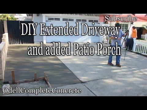 How to pour & Extend your Driveway, plus add a Concrete Patio Porch