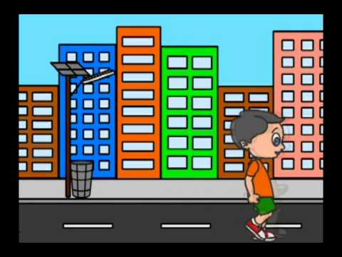 Keep our city clean animation
