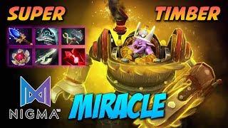 Miracle Super Timbersaw - Dota 2 Pro Gameplay