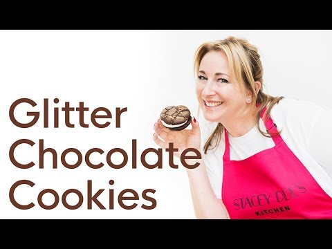 How to make Glitter Chocolate Cookies (marshmallow fluff filling)   Stacey Dee's Kitchen