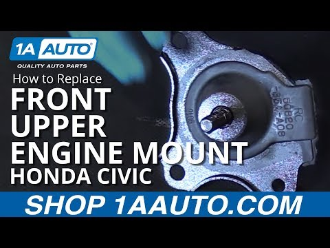 How to Replace Install Upper Engine Mount 2001-05 Honda Civic 1.7L 4-Cyl