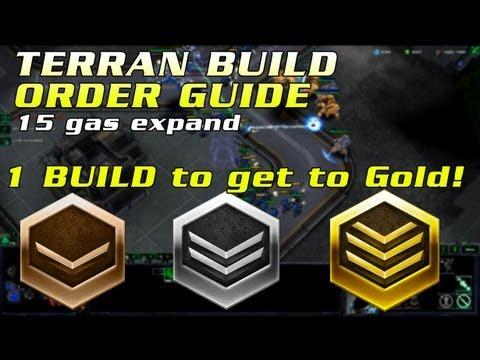 HotS Terran Beginner Build Order | Bronze - Gold all matchups | 15 Gas Expand