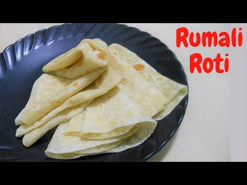 Rumali Roti recipe-How to make ROOMALI ROTI रूमाली रोटी market style RUMALI ROTI at home رومالی روٹی