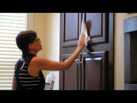Installing cabinet knobs without drilling