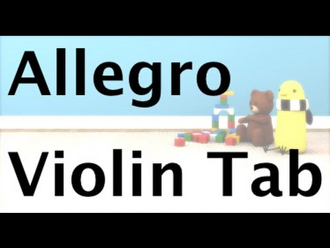 Learn Allegro by Suzuki on Violin - How to Play Tutorial