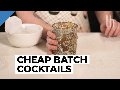 Batch Cocktail Recipe | Cheap Dinner Party