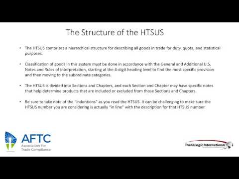 HTS Classification The Most Important Step 062016