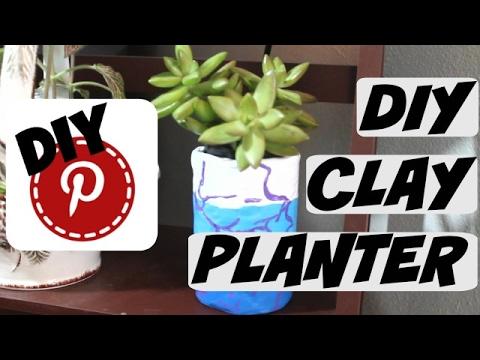 DIY Clay Planter - DIY Pinterest