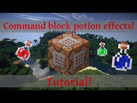 Minecraft Command Block potion effect tutorial!
