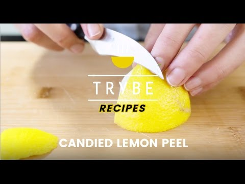 Trybe Recipes : Candied Lemon Peel
