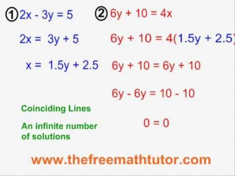 Substitution With Coinciding Lines