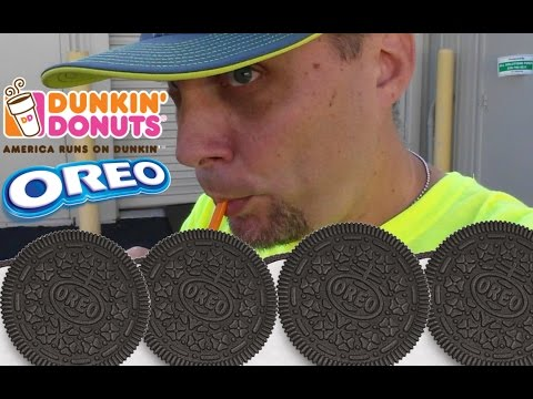 NEW EXCLUSIVE DUNKIN DONUTS OREO COOKIE ICED COFFEE REVIEW # 132