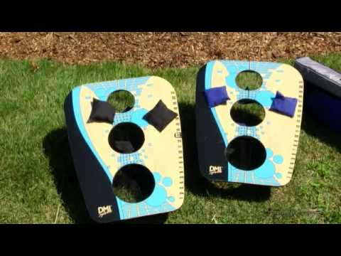 DMI Sports Folding 3-Hole Bean Bag Toss - Product Review Video