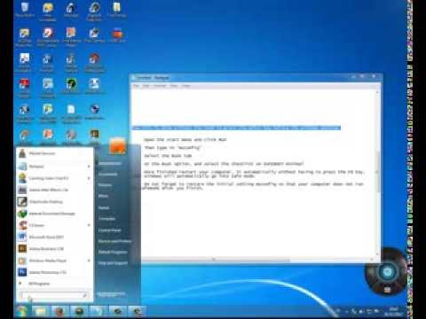 how to boot Windows 7 into safe mode LIVE