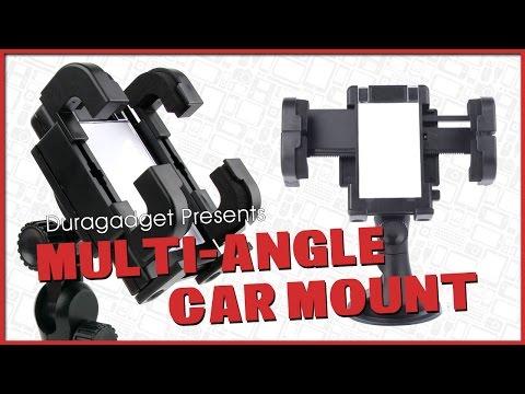 Duragadget - 'Multi-Angle Car Mount & Micro USB Charger'