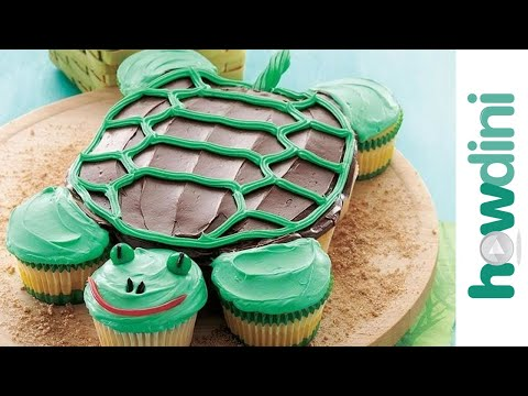 Birthday Cake Ideas: How to Make a Fun Turtle Cupcake Cake