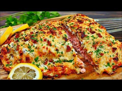 Cheesy Bacon Parmesan Crusted Salmon Recipe - Easy and Delicious Salmon Recipe