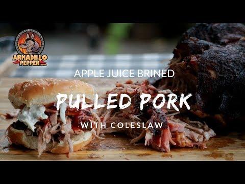 Apple Juice Brined Pulled Pork on Pit Barrel Cooker