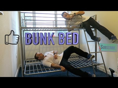 METAL BUNK BED high sleeper with futon