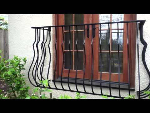 Decorative Partial Window Bars / False Balcony Salvage Material Welding Project.