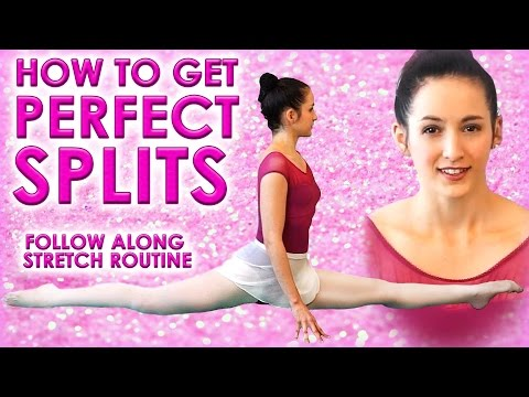 Perfect SPLITS Flexibility Stretch Challenge, How To Do The Splits Class for Beginners Exercises