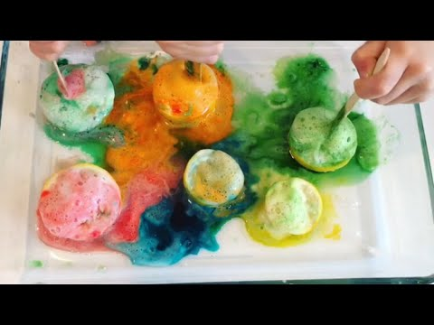 Lemon volcanoes - easy kids experiment