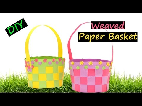 DIY Weaved Paper Basket | How to make | Easter 2017