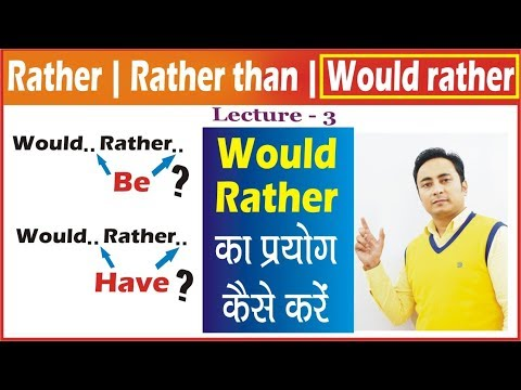 Would Rather, Would Rather Be, Would Rather Have का Use & Examples।English Speaking Course Exercises