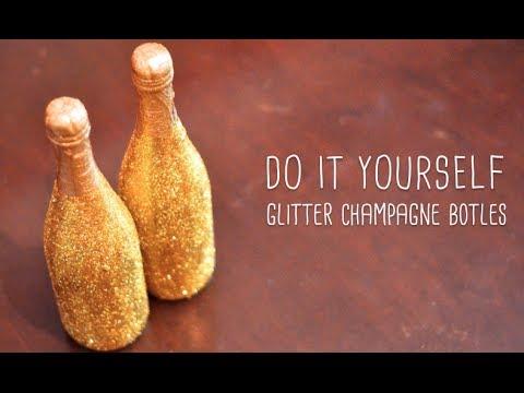 DIY Glitter Champagne | Happy New Year's!