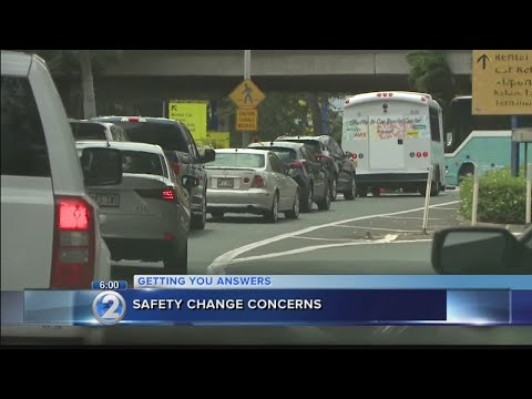 Transportation officials to reevaluate safety feature after traffic mess at Honolulu airport