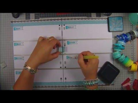 Make your own planner/faites votre propre agenda process #74