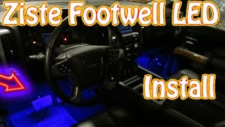 DIY Ziste Footwell LED Installation ~ How to Install Automotive Interior LED Lights