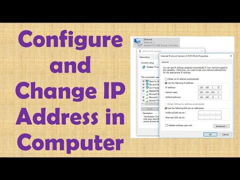 how to configure and change ip address on computer in hindi