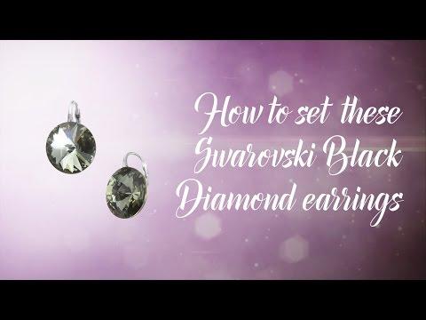 How to set Swarovski crystal Rivoli's earrings