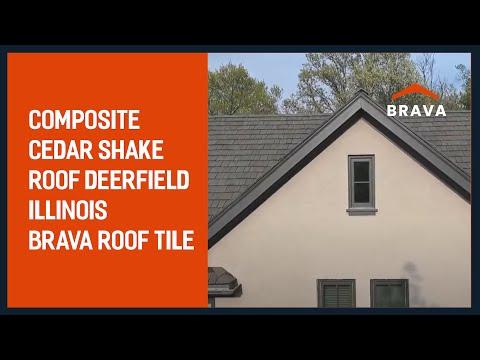 Composite Cedar Shake Roof Deerfield Illinois - Brava Roof Tile