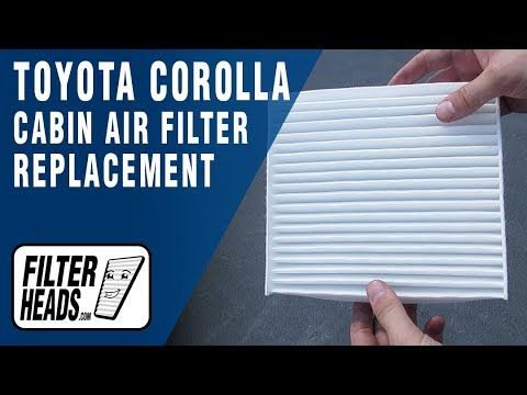 How to Replace Cabin Air Filter 2013 Toyota Corolla