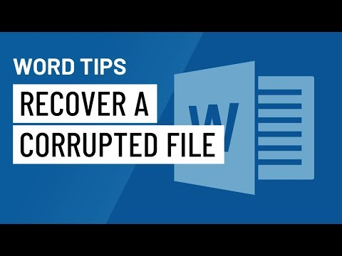 Word Quick Tip: Recover a Corrupted File