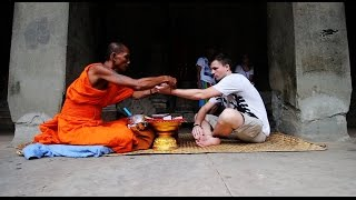 Blessed By A Monk in ANGKOR WAT - Cambodia Vlog