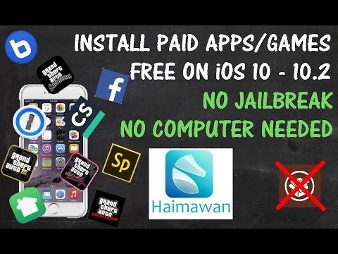 iOS 10 - 10.2 Install PAID Apps/Games FREE [NO JAILBREAK] (NO COMPUTER) {No App Verify}