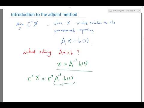 Introduction to the adjoint method