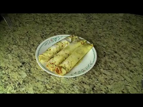 Palačinke (Crepes) with cottage cheese, Slovenian recipe