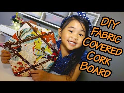 DIY Fabric Covered Cork Board | Easy Handmade Bulletin Board Tutorial