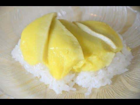 Thai Custard with Sweet Coconut Sticky rice ข้าวเหนียวสังขยา