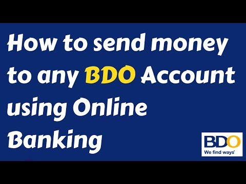 How to send money to any BDO Account using BDO Online Banking