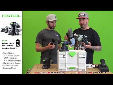 Festool 18V Hybrid Corded Cordless Sanders